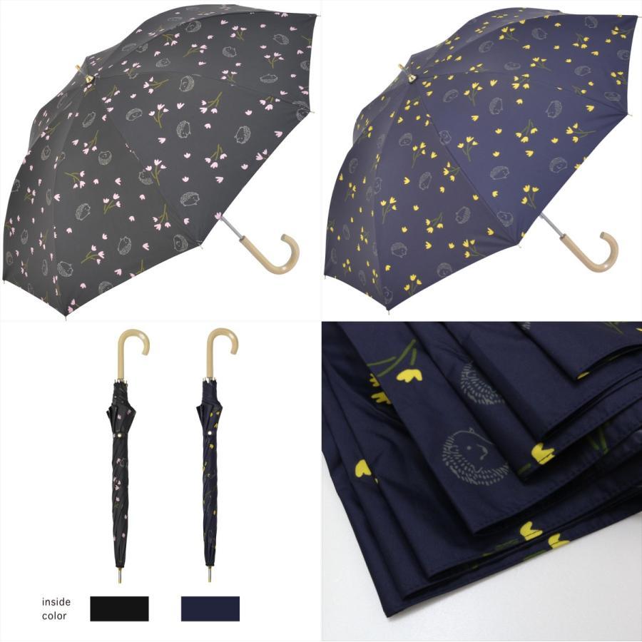 【公式】  日傘  遮光 はりねずみ 花柄 晴雨兼用  長傘 遮熱 PU加工 99.9%カット ニフティカラーズ niftycolors