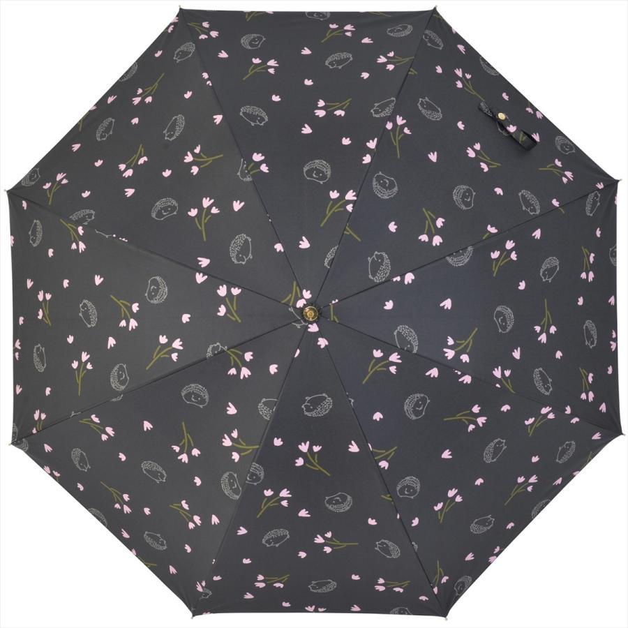 【公式】  日傘  遮光 はりねずみ 花柄 晴雨兼用  長傘 遮熱 PU加工 99.9%カット ニフティカラーズ niftycolors 02