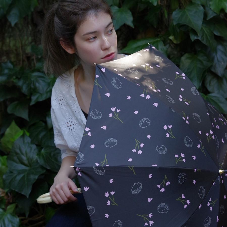 【公式】  日傘  遮光 はりねずみ 花柄 晴雨兼用  長傘 遮熱 PU加工 99.9%カット ニフティカラーズ niftycolors 10