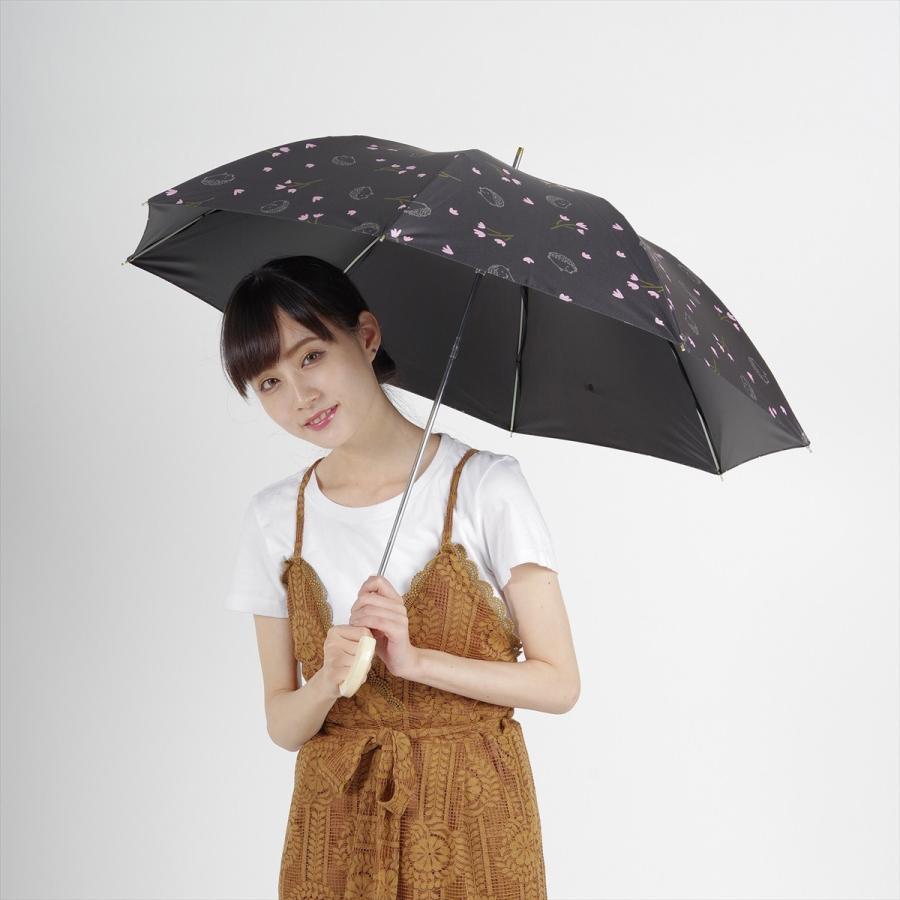 【公式】  日傘  遮光 はりねずみ 花柄 晴雨兼用  長傘 遮熱 PU加工 99.9%カット ニフティカラーズ niftycolors 11