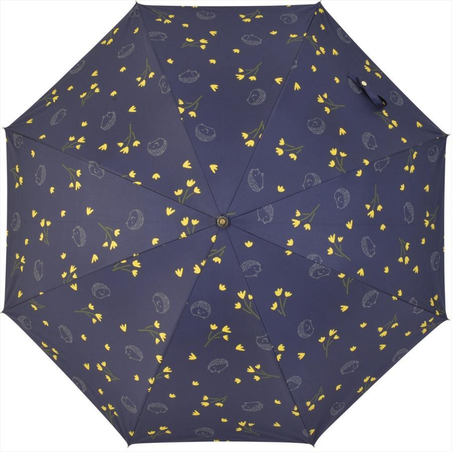 【公式】  日傘  遮光 はりねずみ 花柄 晴雨兼用  長傘 遮熱 PU加工 99.9%カット ニフティカラーズ niftycolors 03