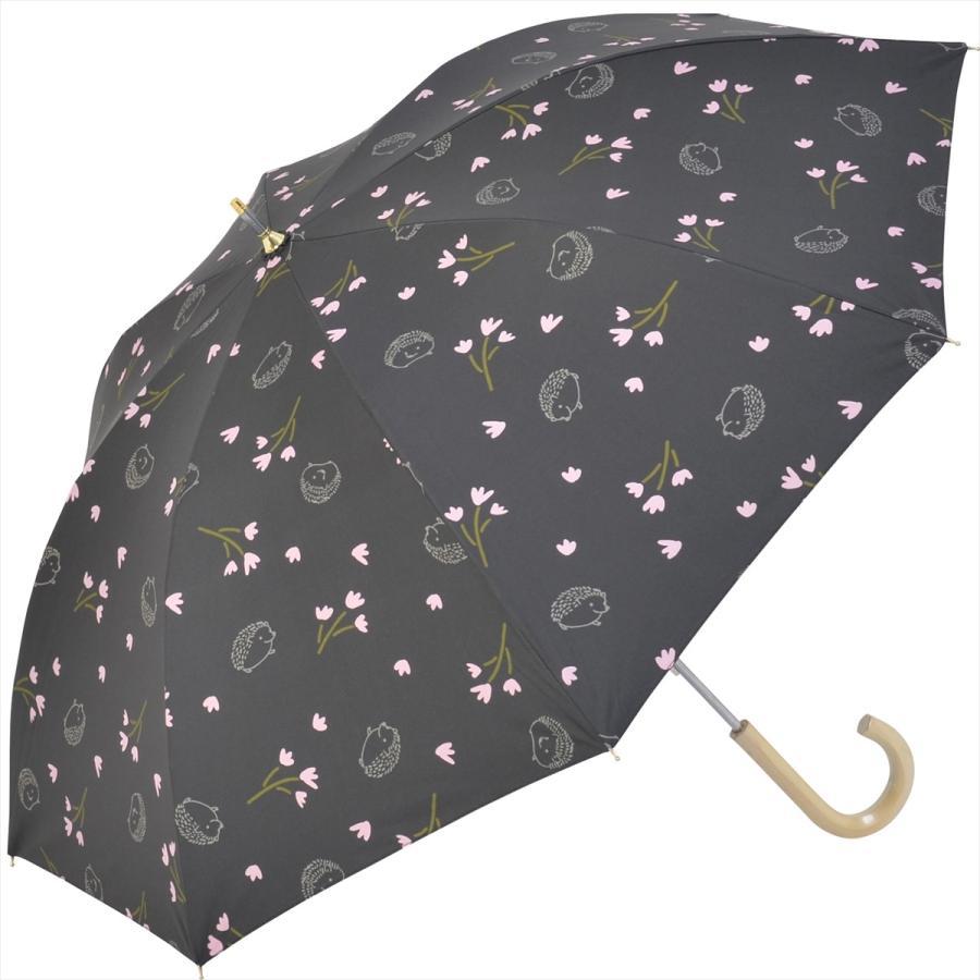 【公式】  日傘  遮光 はりねずみ 花柄 晴雨兼用  長傘 遮熱 PU加工 99.9%カット ニフティカラーズ niftycolors 16