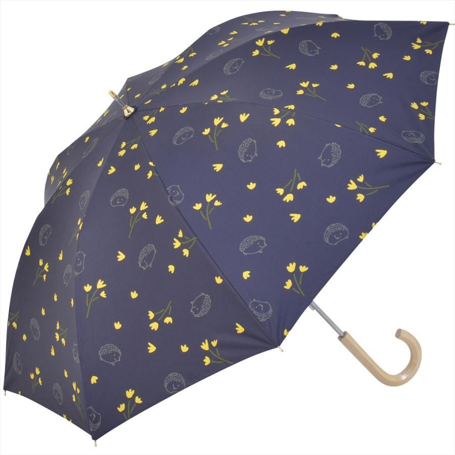 【公式】  日傘  遮光 はりねずみ 花柄 晴雨兼用  長傘 遮熱 PU加工 99.9%カット ニフティカラーズ niftycolors 17