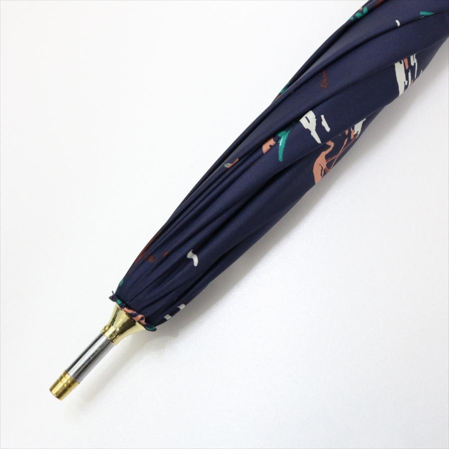 【公式】  日傘  遮光 フラミンゴ 南国 晴雨兼用 レディース 長傘 遮熱 PU加工 99.9%カット ニフティカラーズ|niftycolors|09