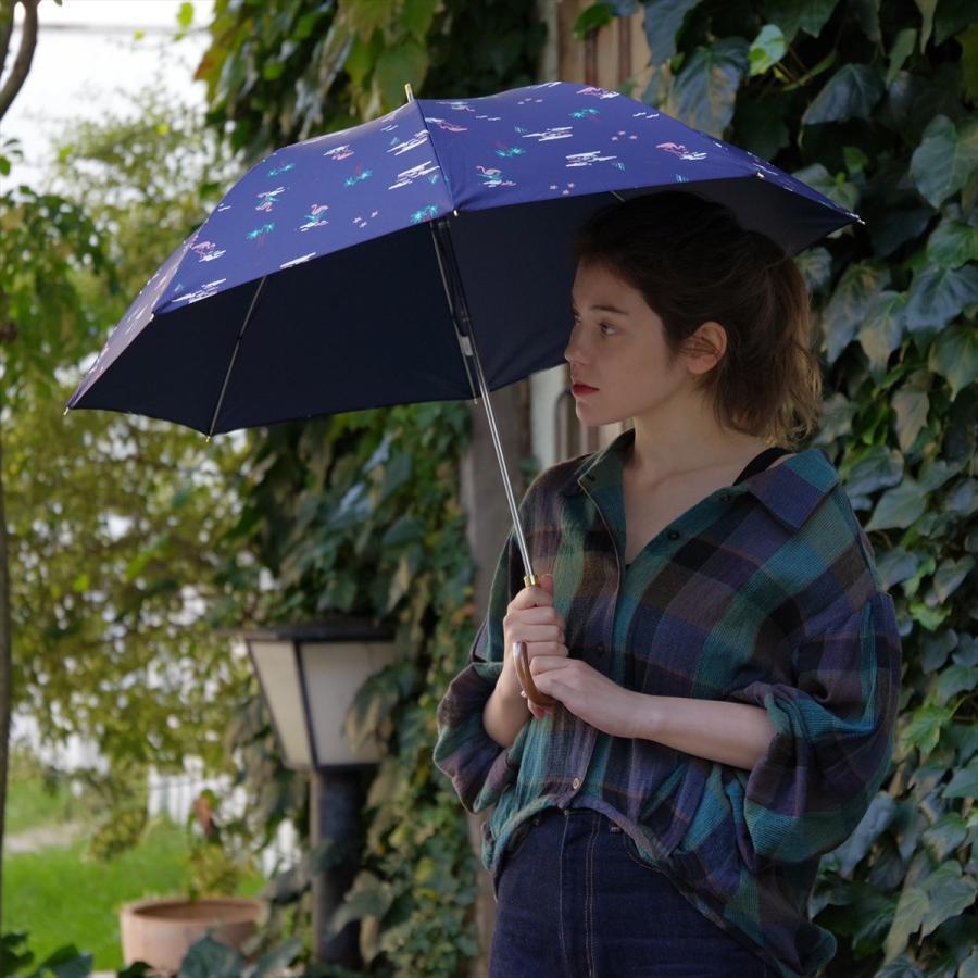 【公式】  日傘  遮光 フラミンゴ 南国 晴雨兼用 レディース 長傘 遮熱 PU加工 99.9%カット ニフティカラーズ|niftycolors|10