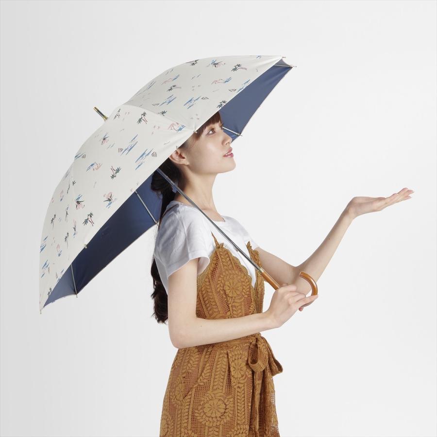 【公式】  日傘  遮光 フラミンゴ 南国 晴雨兼用 レディース 長傘 遮熱 PU加工 99.9%カット ニフティカラーズ|niftycolors|11