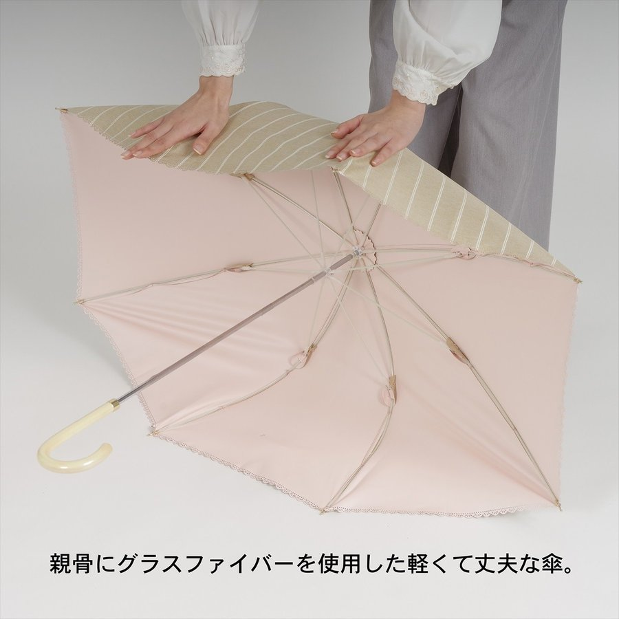 【公式】  日傘  遮光 フラミンゴ 南国 晴雨兼用 レディース 長傘 遮熱 PU加工 99.9%カット ニフティカラーズ|niftycolors|13