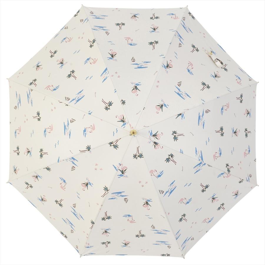 【公式】  日傘  遮光 フラミンゴ 南国 晴雨兼用 レディース 長傘 遮熱 PU加工 99.9%カット ニフティカラーズ|niftycolors|03
