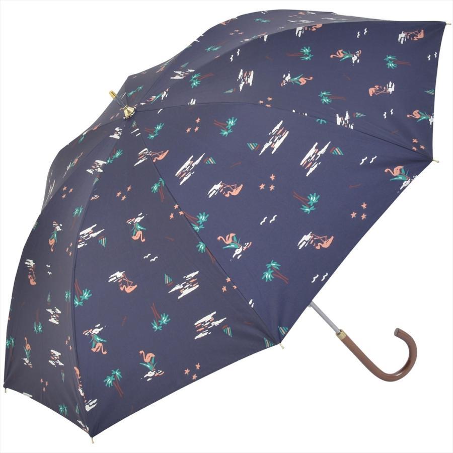 【公式】  日傘  遮光 フラミンゴ 南国 晴雨兼用 レディース 長傘 遮熱 PU加工 99.9%カット ニフティカラーズ|niftycolors|16
