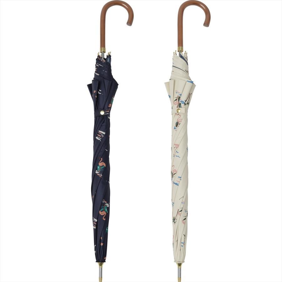 【公式】  日傘  遮光 フラミンゴ 南国 晴雨兼用 レディース 長傘 遮熱 PU加工 99.9%カット ニフティカラーズ|niftycolors|04