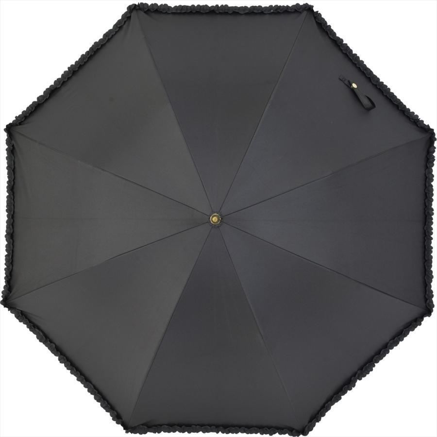 【公式】   日傘  遮光 フリル カジュアル 晴雨兼用 レディース 長傘 遮熱 PU加工 99.9%カット ニフティカラーズ|niftycolors|02