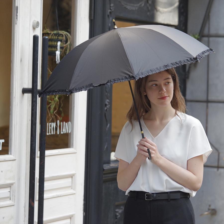 【公式】   日傘  遮光 フリル カジュアル 晴雨兼用 レディース 長傘 遮熱 PU加工 99.9%カット ニフティカラーズ|niftycolors|11