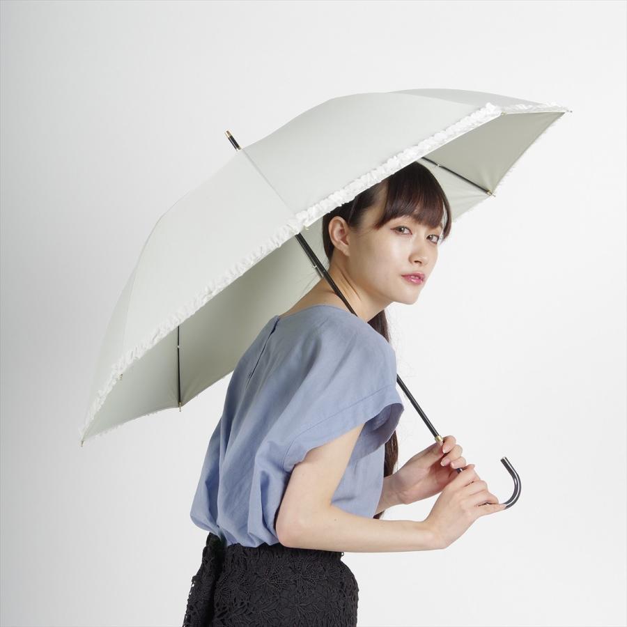 【公式】   日傘  遮光 フリル カジュアル 晴雨兼用 レディース 長傘 遮熱 PU加工 99.9%カット ニフティカラーズ|niftycolors|12