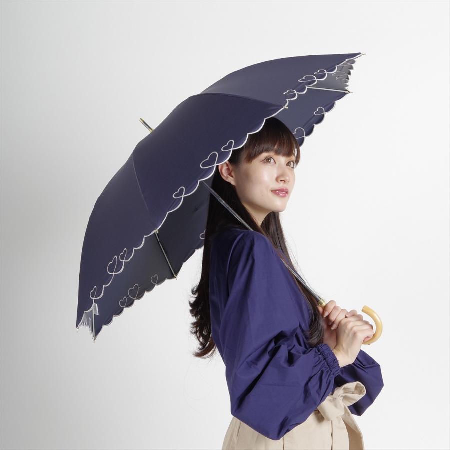 【公式】 日傘  遮光 ハート スカラ 晴雨兼用  長傘 遮熱 PU加工 99.9%カット  ニフティカラーズ|niftycolors|11