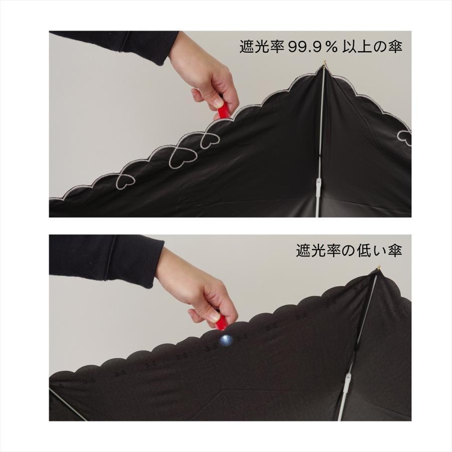 【公式】 日傘  遮光 ハート スカラ 晴雨兼用  長傘 遮熱 PU加工 99.9%カット  ニフティカラーズ|niftycolors|14