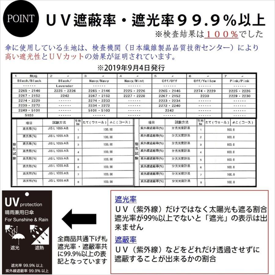 【公式】 日傘  遮光 ハート スカラ 晴雨兼用  長傘 遮熱 PU加工 99.9%カット  ニフティカラーズ|niftycolors|15