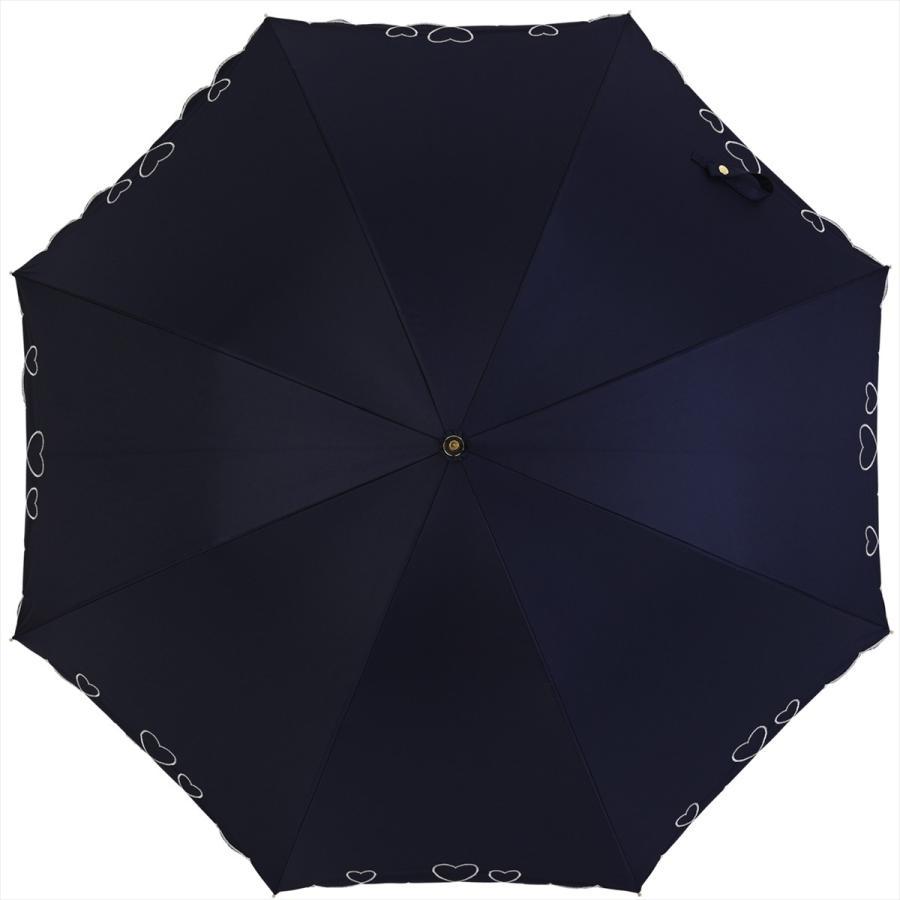 【公式】 日傘  遮光 ハート スカラ 晴雨兼用  長傘 遮熱 PU加工 99.9%カット  ニフティカラーズ|niftycolors|03