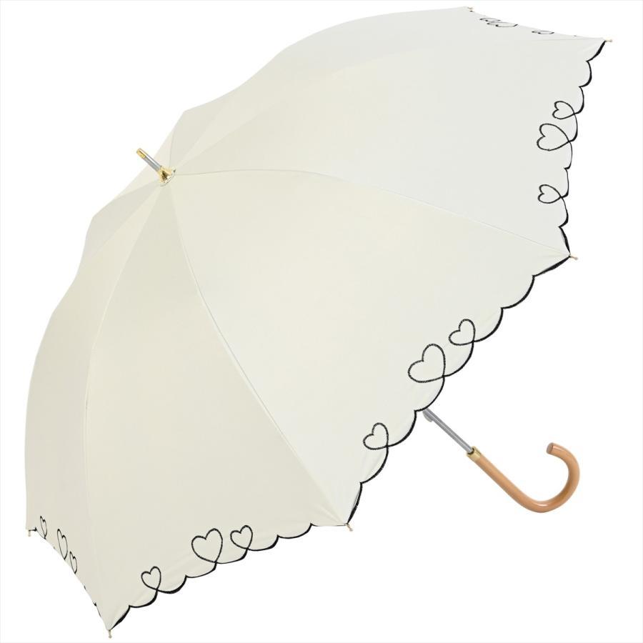 【公式】 日傘  遮光 ハート スカラ 晴雨兼用  長傘 遮熱 PU加工 99.9%カット  ニフティカラーズ|niftycolors|18