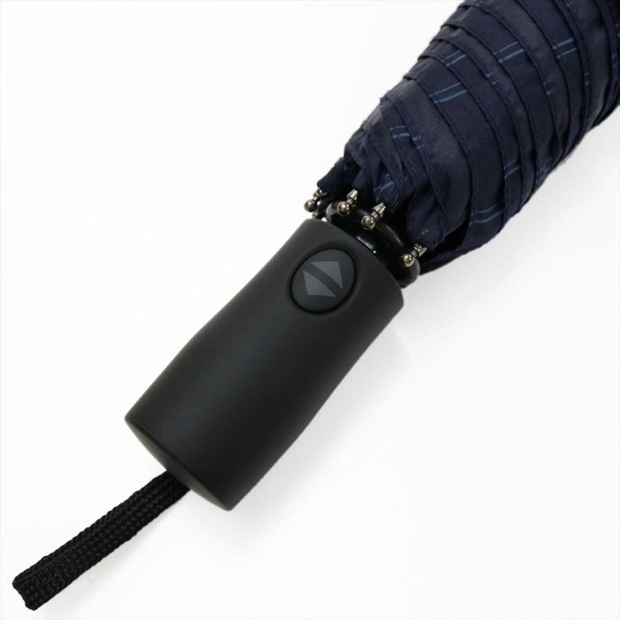 【公式】 ユニセックス 紳士 婦人 雨傘 折傘 自動開閉 オートマチック UV ストライプ  niftycolors ニフティカラーズ niftycolors 07