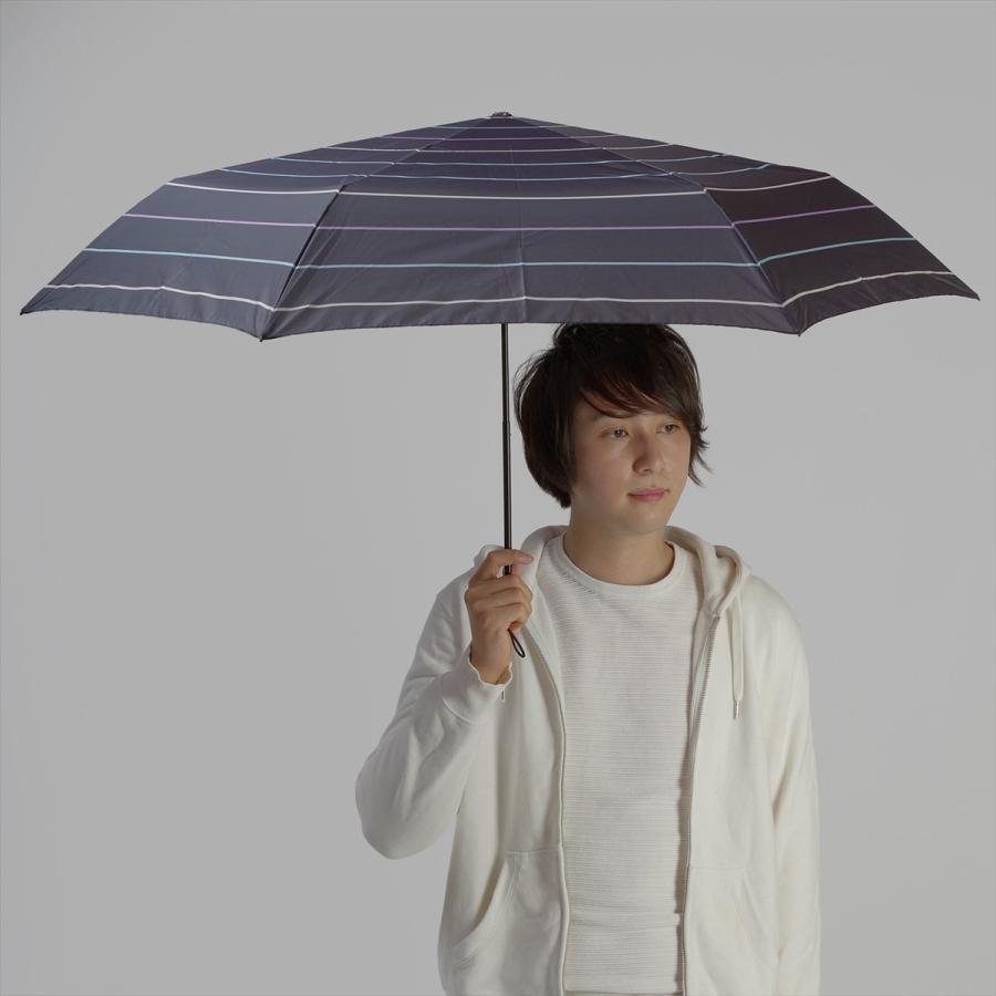 【公式】 ユニセックス レディース メンズ 晴雨兼用 雨傘 折傘 折り畳み 傘 軽い UV 紫外線防止 無地 大きめ 大判 人気 ボーダー niftycolors 11