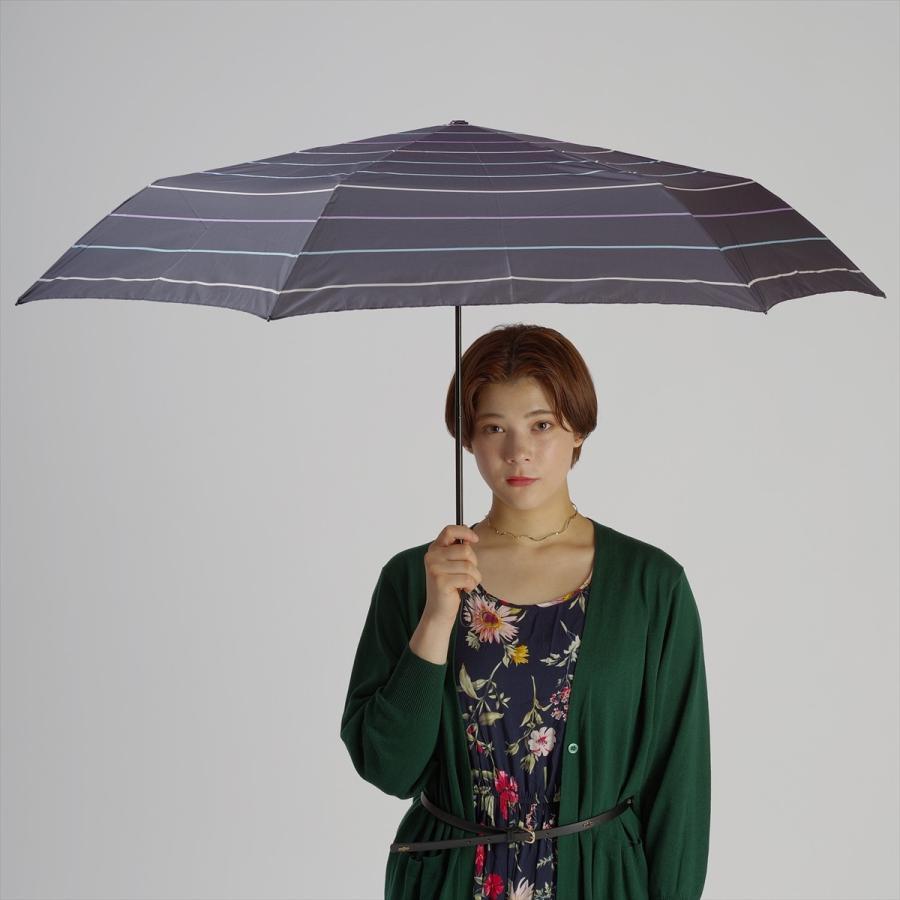 【公式】 ユニセックス レディース メンズ 晴雨兼用 雨傘 折傘 折り畳み 傘 軽い UV 紫外線防止 無地 大きめ 大判 人気 ボーダー niftycolors 12