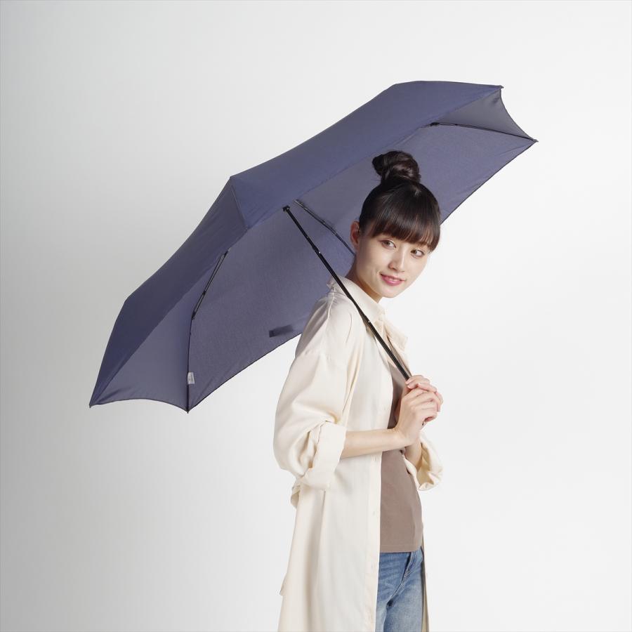 【公式】 ユニセックス レディース メンズ 晴雨兼用 雨傘 折傘 傘 軽い 軽量 UV 紫外線防止 無地 大きめ 大判 人気 デニム|niftycolors|10
