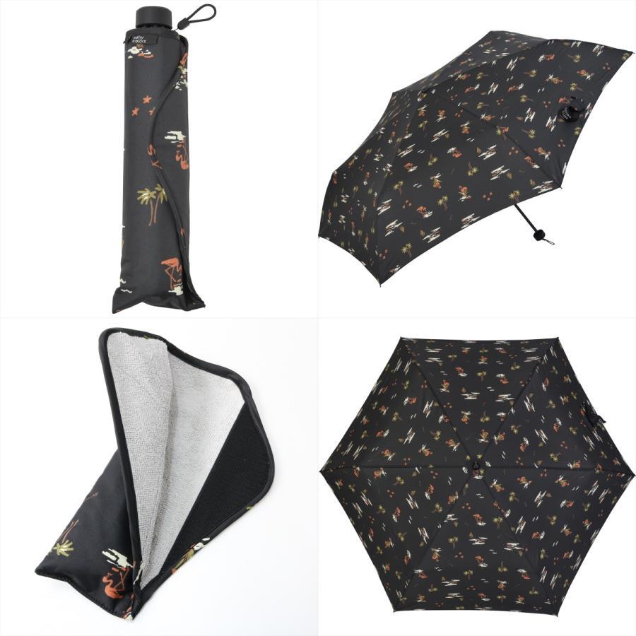 【公式】 ニフティカラーズ 傘  フラミンゴ ユニセックス 吸水ケース付 晴雨兼用 大きめ 60cm 折りたたみ ギフト UV 折傘 紫外線防止|niftycolors