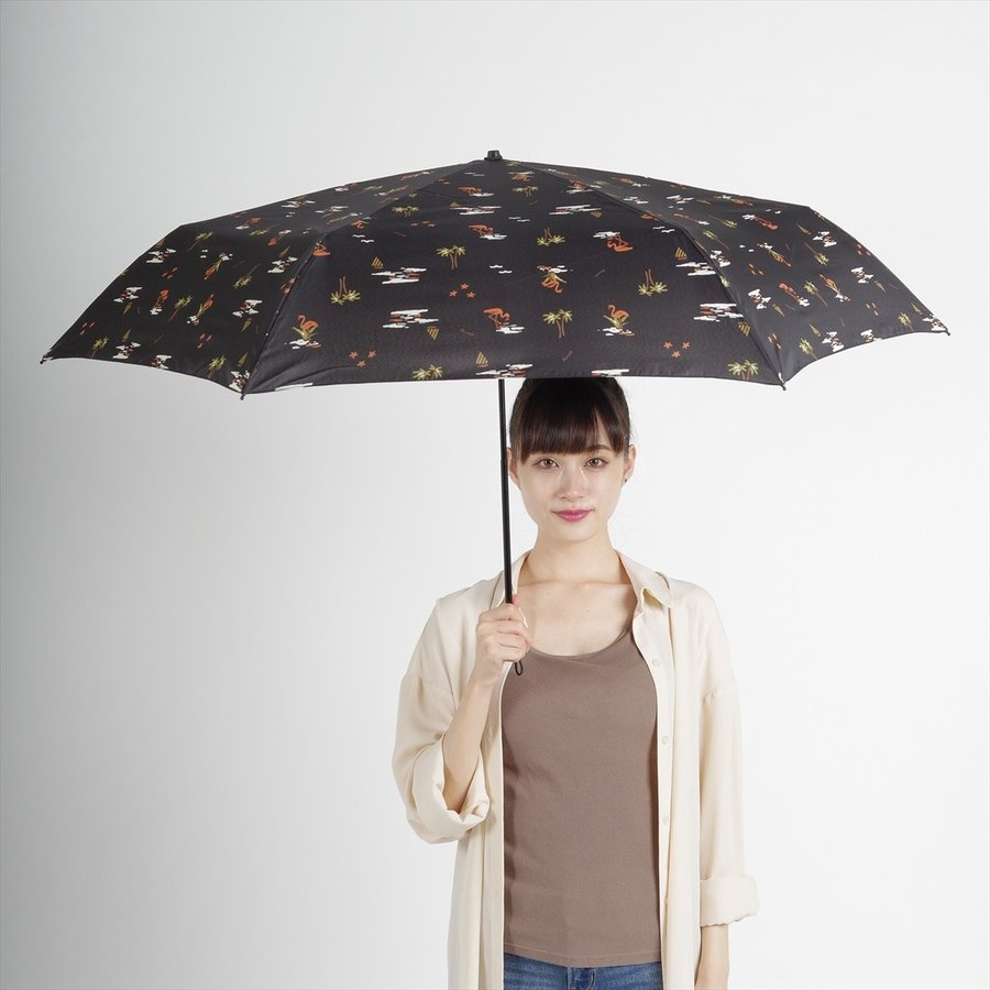 【公式】 ニフティカラーズ 傘  フラミンゴ ユニセックス 吸水ケース付 晴雨兼用 大きめ 60cm 折りたたみ ギフト UV 折傘 紫外線防止|niftycolors|10