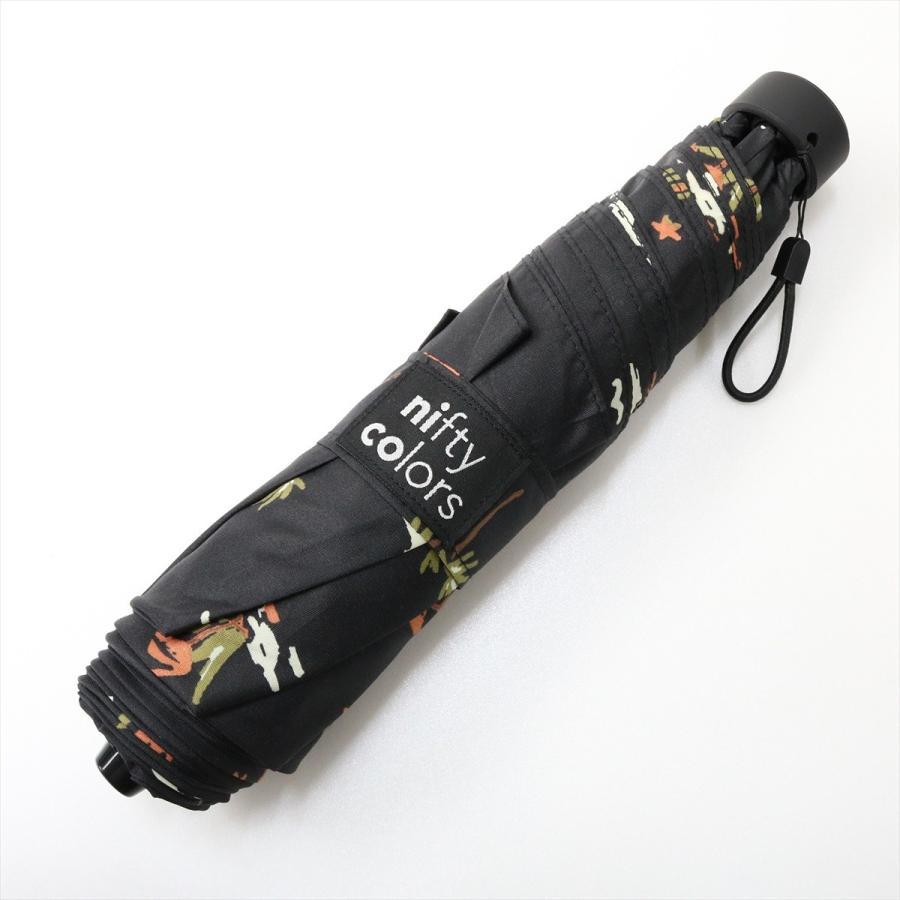 【公式】 ニフティカラーズ 傘  フラミンゴ ユニセックス 吸水ケース付 晴雨兼用 大きめ 60cm 折りたたみ ギフト UV 折傘 紫外線防止|niftycolors|03