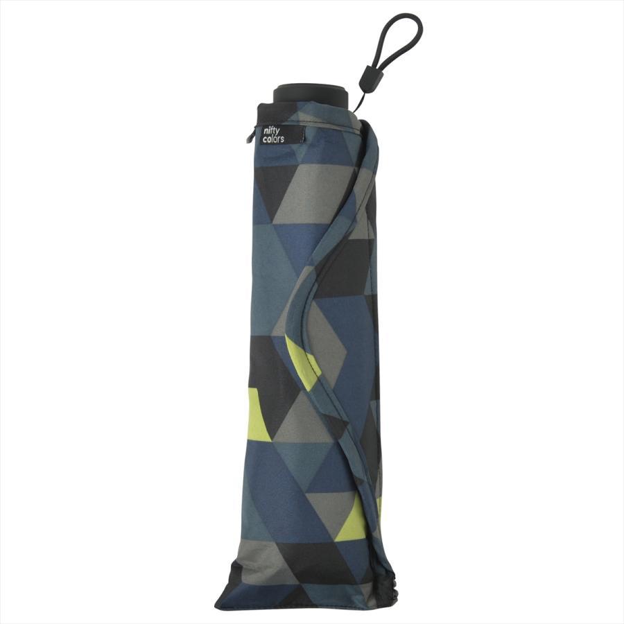 【公式】 ニフティカラーズ 傘  カモフラ モザイク ユニセックス 吸水ケース付 晴雨兼用 大きめ 60cm 折りたたみ ギフト 折傘 紫外線防止|niftycolors|03