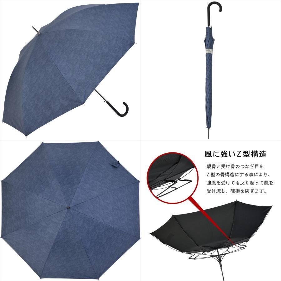 【公式】 ニフティカラーズ 日傘  遮光 デニムプリント  ユニセックス メンズ 晴雨兼用 65cm 大きめ 耐風 長傘 遮熱 PU加工 99.9%|niftycolors