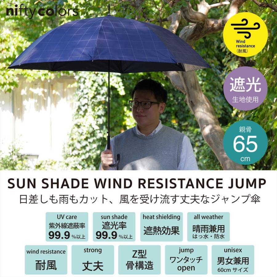 【公式】 ニフティカラーズ 日傘  遮光 デニムプリント  ユニセックス メンズ 晴雨兼用 65cm 大きめ 耐風 長傘 遮熱 PU加工 99.9%|niftycolors|09