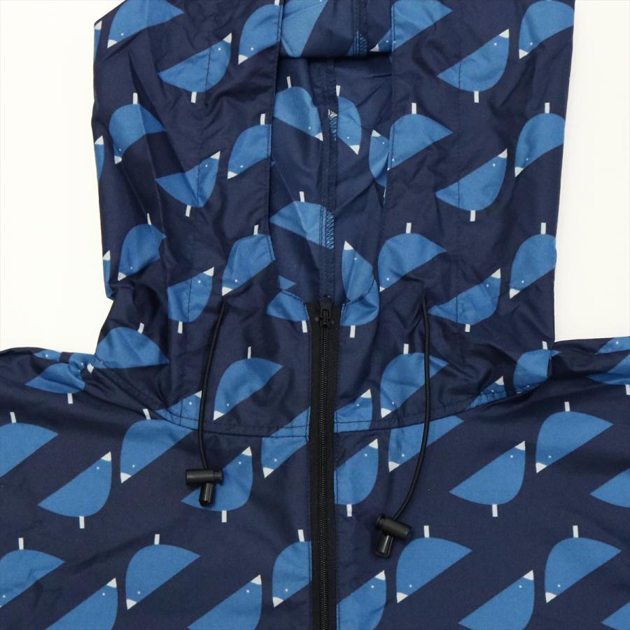 【公式】 ニフティカラーズ レインポンチョ ひよこ コッコ ユニセックス コンパクト ケース フード付 リュック 紺 ギフト プレゼント最適|niftycolors|05