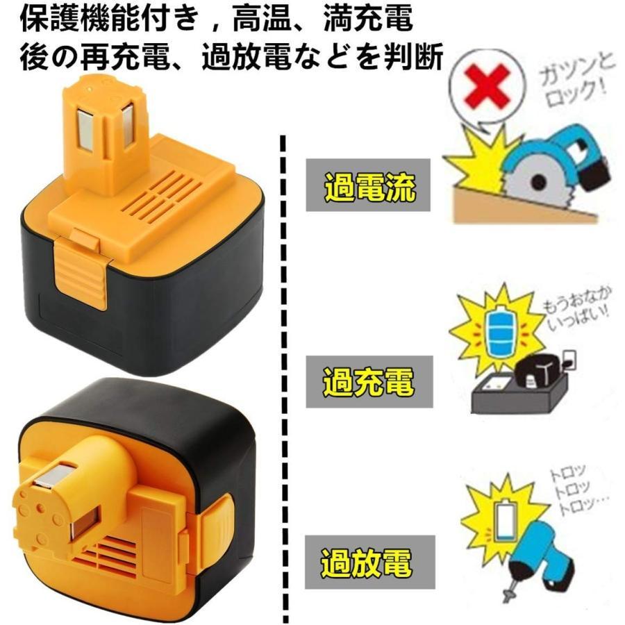 パナソニック 12V 互換 バッテリー 2個セット 3000mAh EZ9200 ezt901 EZ9200S EZ9107 EY9200 (B) EY9108 (S) EY9201 (B) EY9001 対応 panasonic|nihon-dm|06