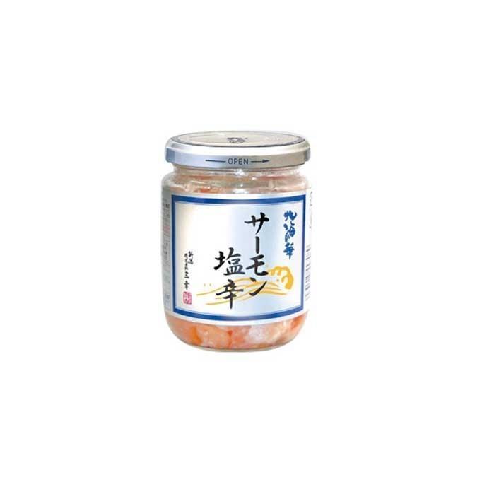 サーモン塩辛 アトランティックサーモンのハラス使用 塩糀の風味が絶妙 北海道産深紅の塩いくら入り|niigata-furusatowari|02