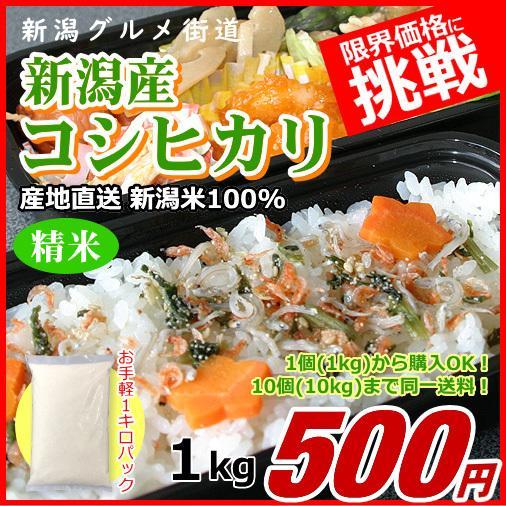 コシヒカリ 1キロ 新潟米 1kg  令和3年産 お米 新潟産 産地直送 米 コメ niigata-gourmet