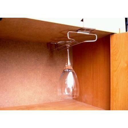棚にはさむだけのカンタン取り付け! ワイングラスホルダー1列(棚板差し込み式) 越乃工芸製作|niigata-honmono|03
