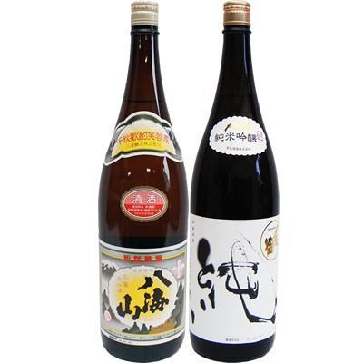 八海山 普通酒 1.8Lと〆張鶴 純 純米吟醸1.8L 日本酒 飲み比べセット 2本セット