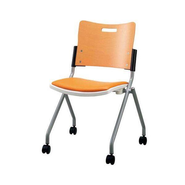 ジョインテックス 会議椅子(スタッキングチェア/ミーティングチェア) 肘なし 座面:合成皮革(合皮) キャスター付き FJC-K8L OR OR 〔完成品〕