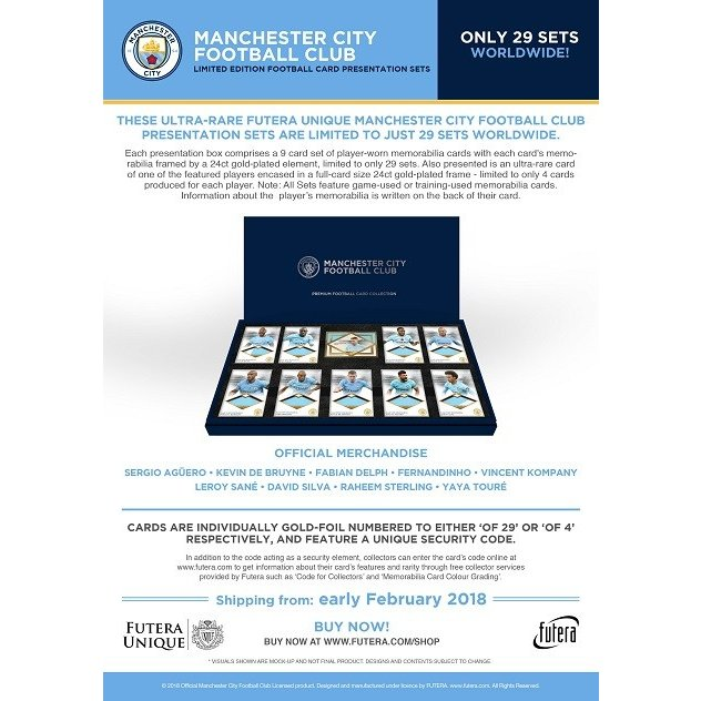 2018 FUTERA UNIQUE LIMITED EDITION MANCHESTER CITY