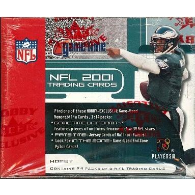 NFL 2001 FLEER GAME TIME FOOTBALL BOX