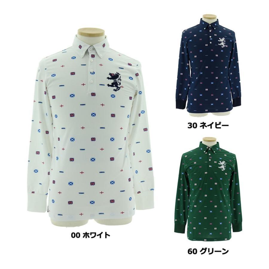 【送料無料】 2019秋冬 ADM L/Sフラッグ 総柄BDシャツ ADMA994 【 長袖シャツ(ゴルフウェア) | アドミラル(Admiral) 】