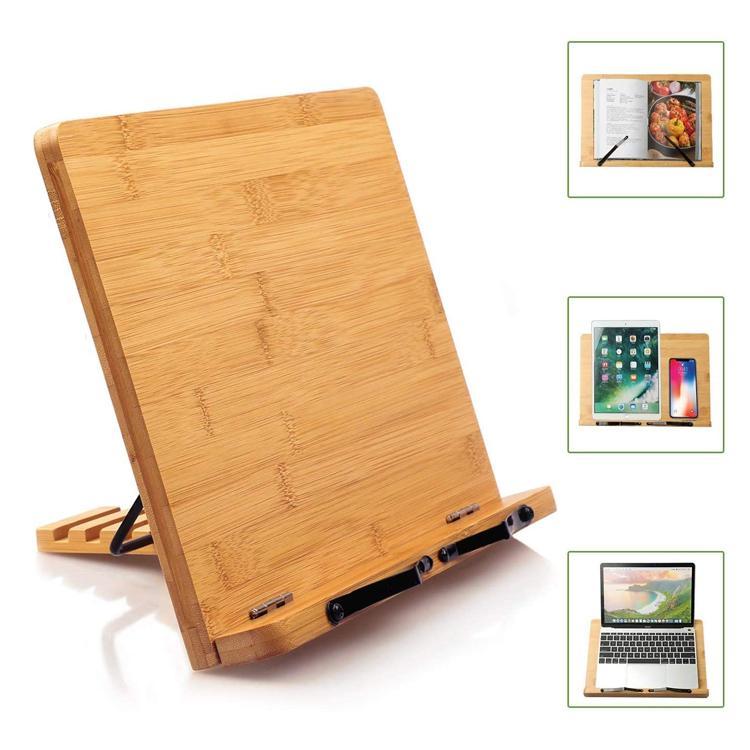 ブックスタンド 筆記台 書見台 竹製 本立て5段階調整 バンブー 本 リーディング 読書 大特価 ブックホルダー 全品最安値に挑戦 卓上スタンド ハンズフリー タブレット