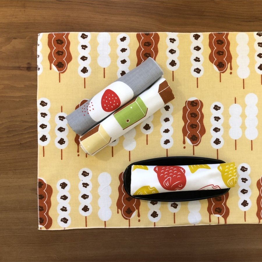 半てぬぐい cankeri 和菓子柄 niko-towel 09