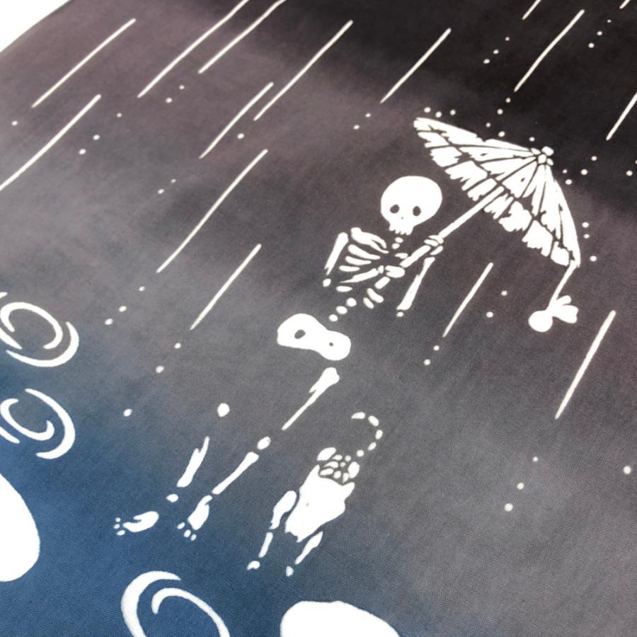 注染 てぬぐい 無常 雨夜遊歩|niko-towel|03