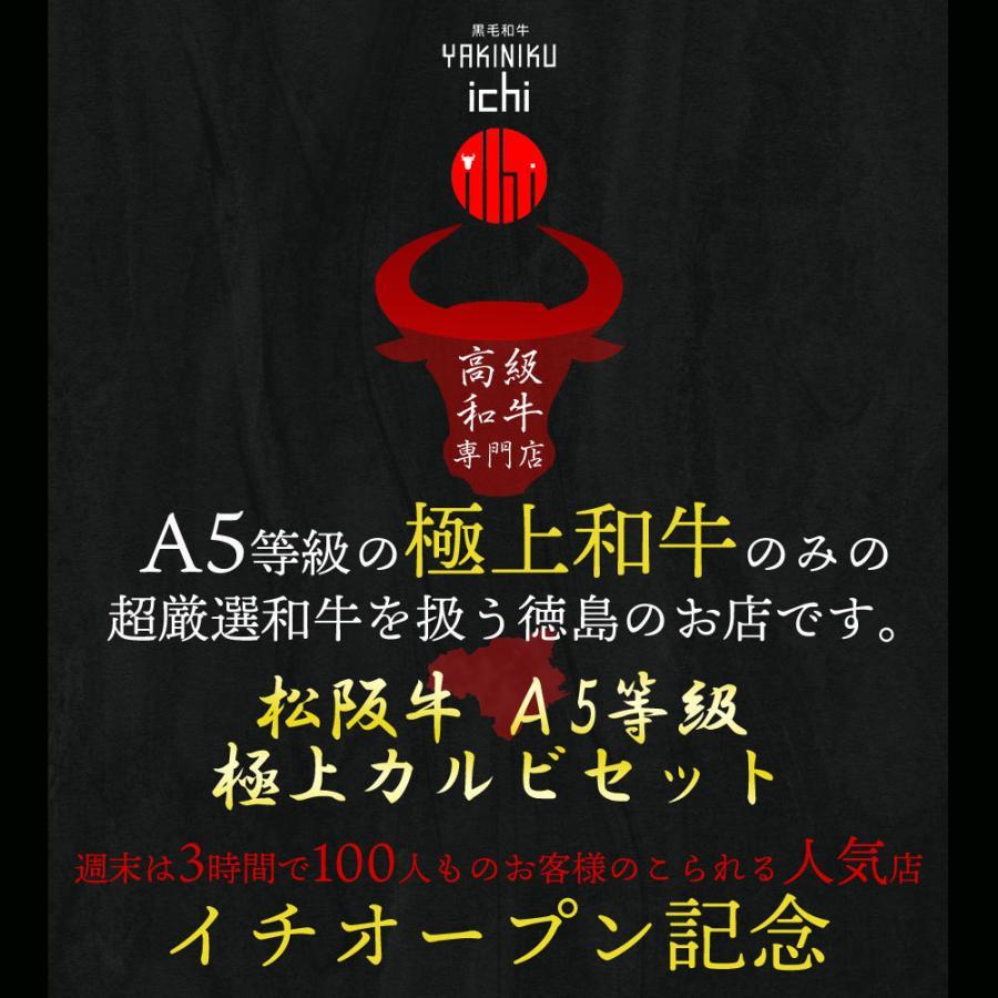 松阪牛 A5等級 カルビ 焼肉セット 500g バーベキュー 500グラム 送料無料(北海道沖縄除く)|nikuichi|02