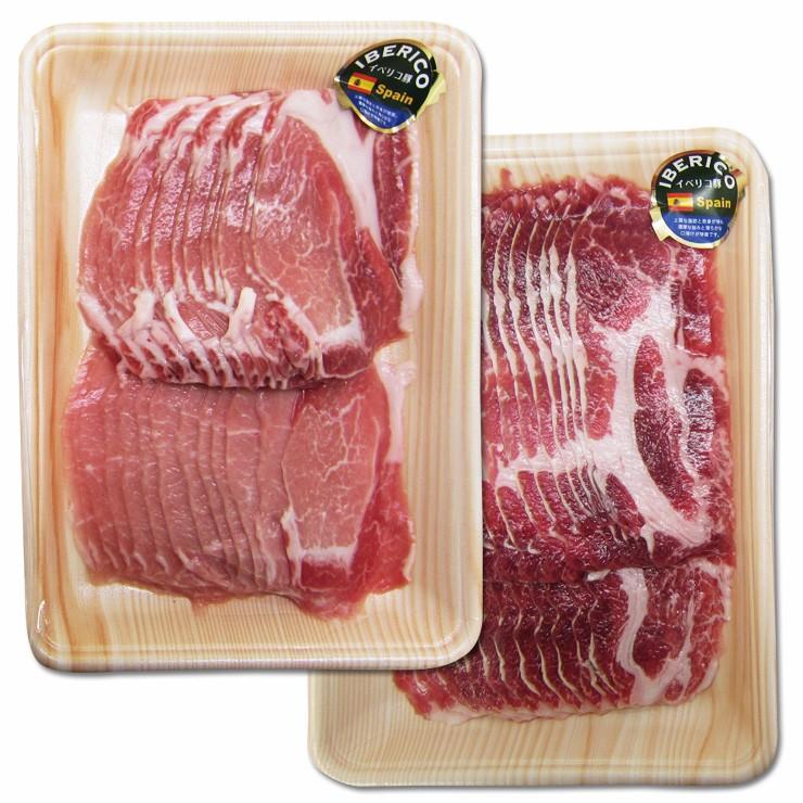 肉 ギフト 豚肉 イベリコ豚 しゃぶしゃぶセット600g ロース+肩ロース 化粧箱入 お祝 内祝 お取り寄せ グルメ nikunohiguchi-yafuu 05