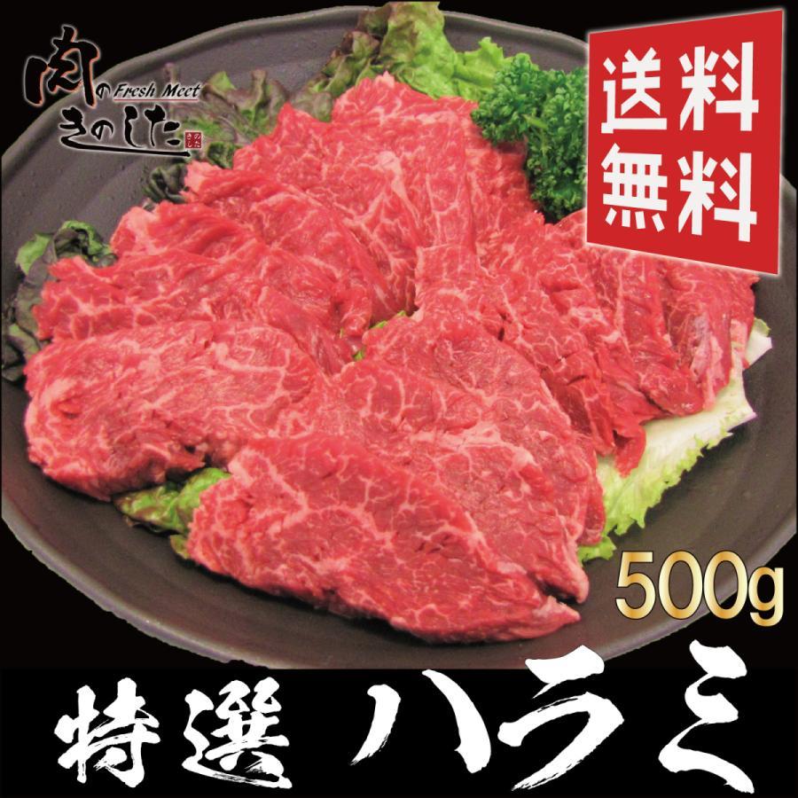 牛 信託 特選ハラミ 500g 牛肉 BBQ 送料無料 大容量 新生活 バーベキュー 焼肉