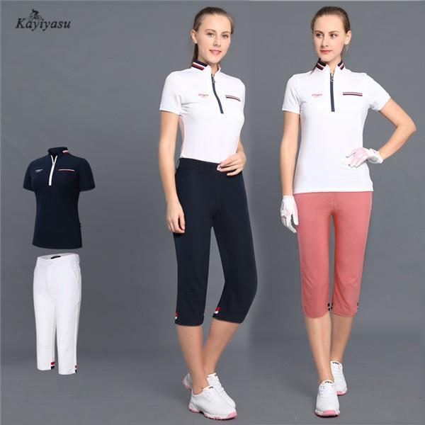 ゴルフウェア レディース ゴルフパンツ ゴルフシャツ ポロシャツ 短パン ショートパンツ 女性用 半袖 Tシャツ 上下セット