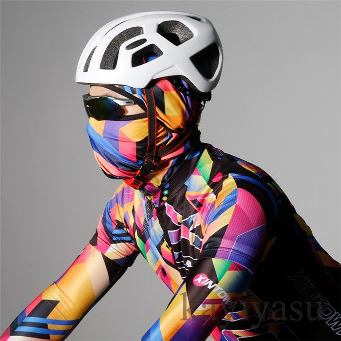 バラクラバ フェイスマスク フェイスカバー 目出し帽 フェイスガード UV ネックガード ネックウォーマー ネックスカーフ 自転車用 防風 防寒 防塵|niltutyuu|16